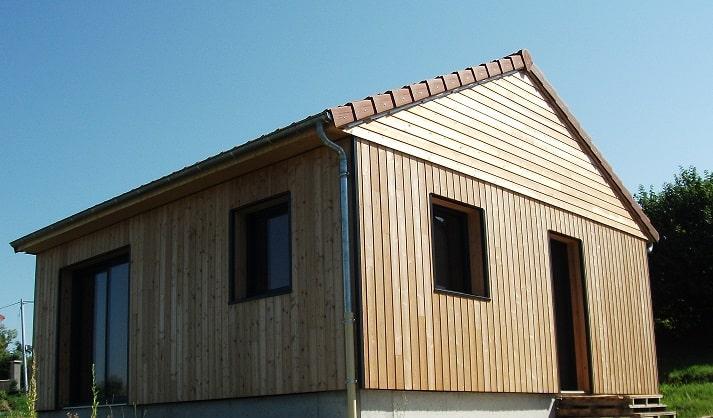 Construction-Ossature-Bois-Maison-Nature-Chasse-Saint-Genès-Champanelle-63-Façade-Extérieure